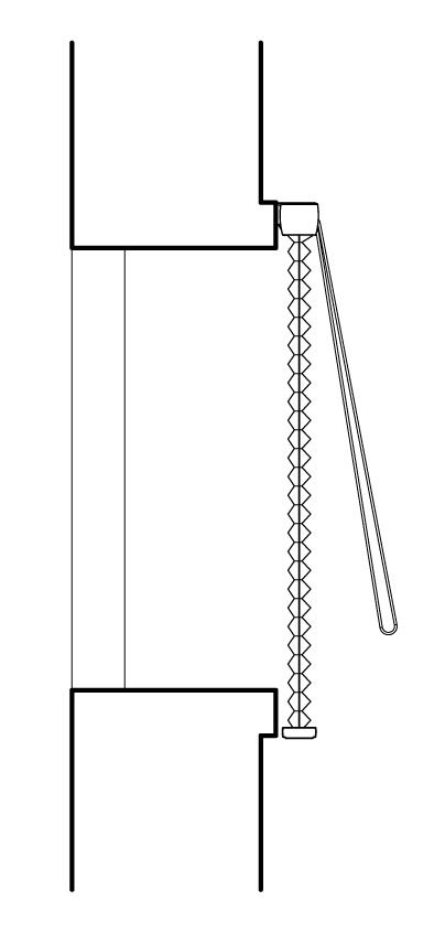 設置位置寸法について(外付断面)