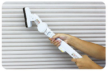 ハニカム構造・断熱ブラインドのお手入れ方法(掃除機使用の場合)